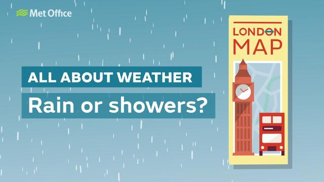 Find out the difference between rain and showers and the symbols used.