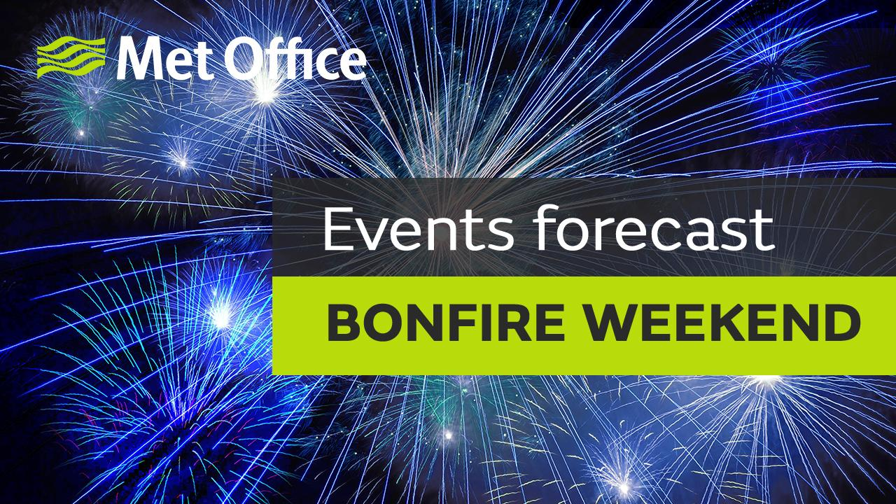 Weather forecast for this years Bonfire weekend.