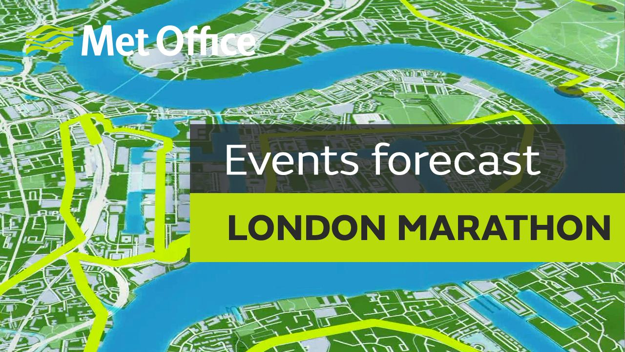 Aidan McGivern takes a look the weather forecast for this year's London Marathon, taking place on Sunday 23rd April.