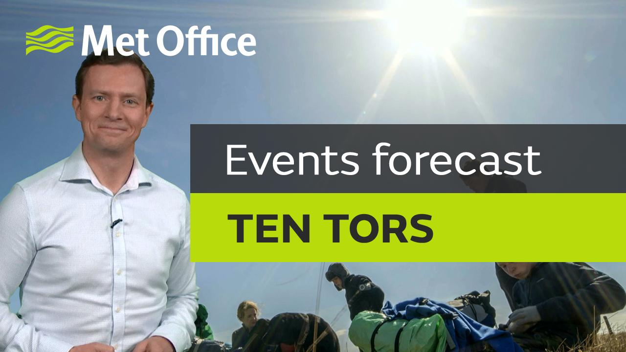 Alex Deakin brings you the forecast for the Ten Tors challenge, which takes place across Dartmoor National Park.