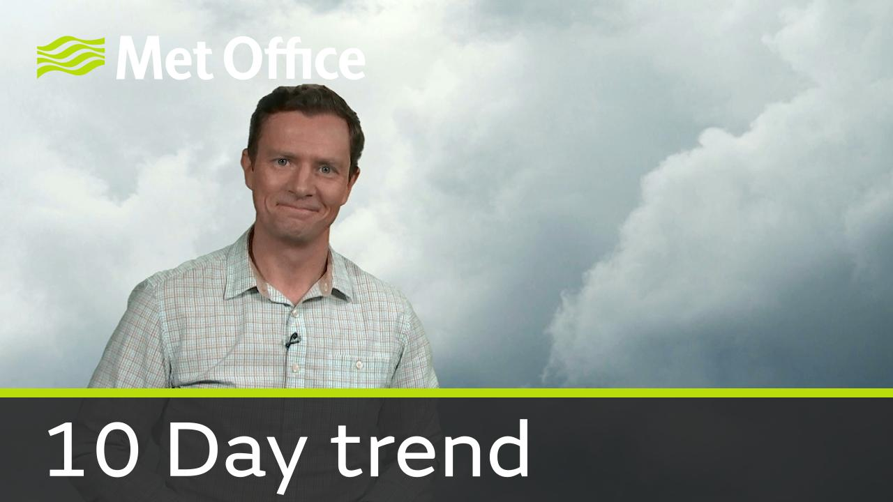 Alex Deakin takes a look at the weather for the next ten days.