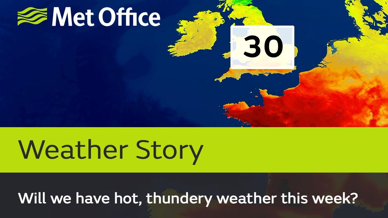 Temperatures are on the rise in southern areas again this week and we are expecting some thundery downpours in places on Thursday. Alex Deakin explains what's happening.