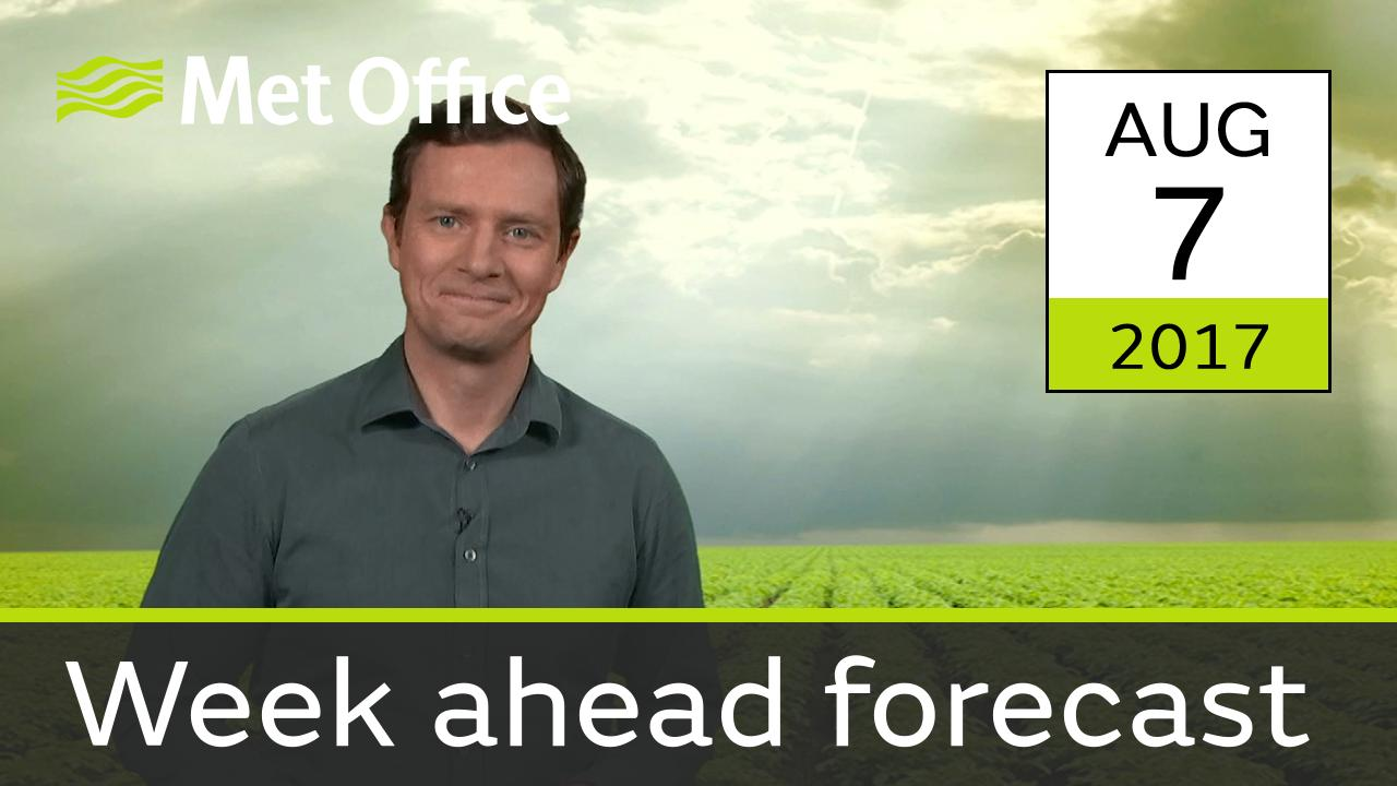 Alex Deakin takes a look at the weather for the week ahead.