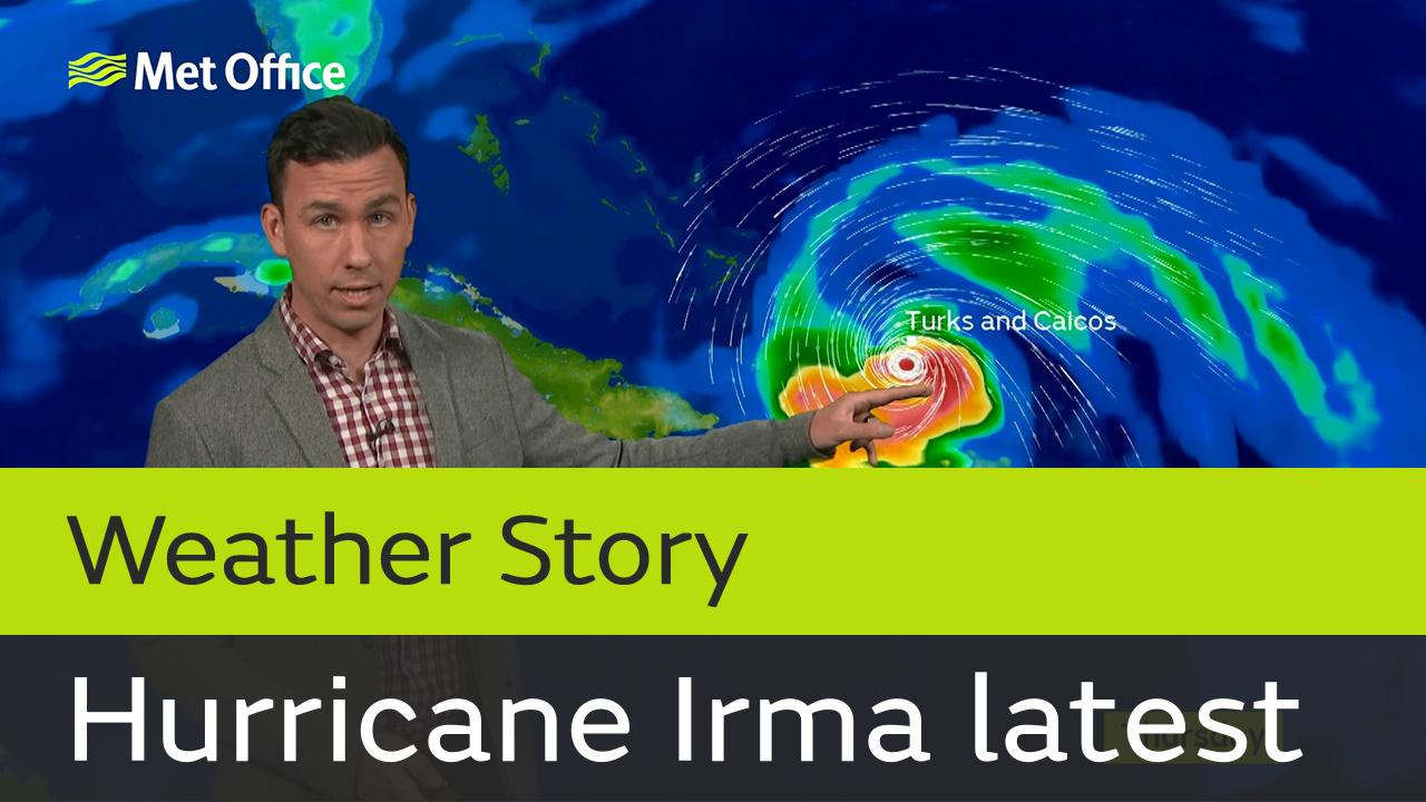Category 5 Hurricane Irma has already brought devastating impacts to parts of the Caribbean and is expected to affect Haiti, the Dominican Republic and Turks and Caicos during Thursday. Met Office Meteorologist Aidan McGivern provides an update.