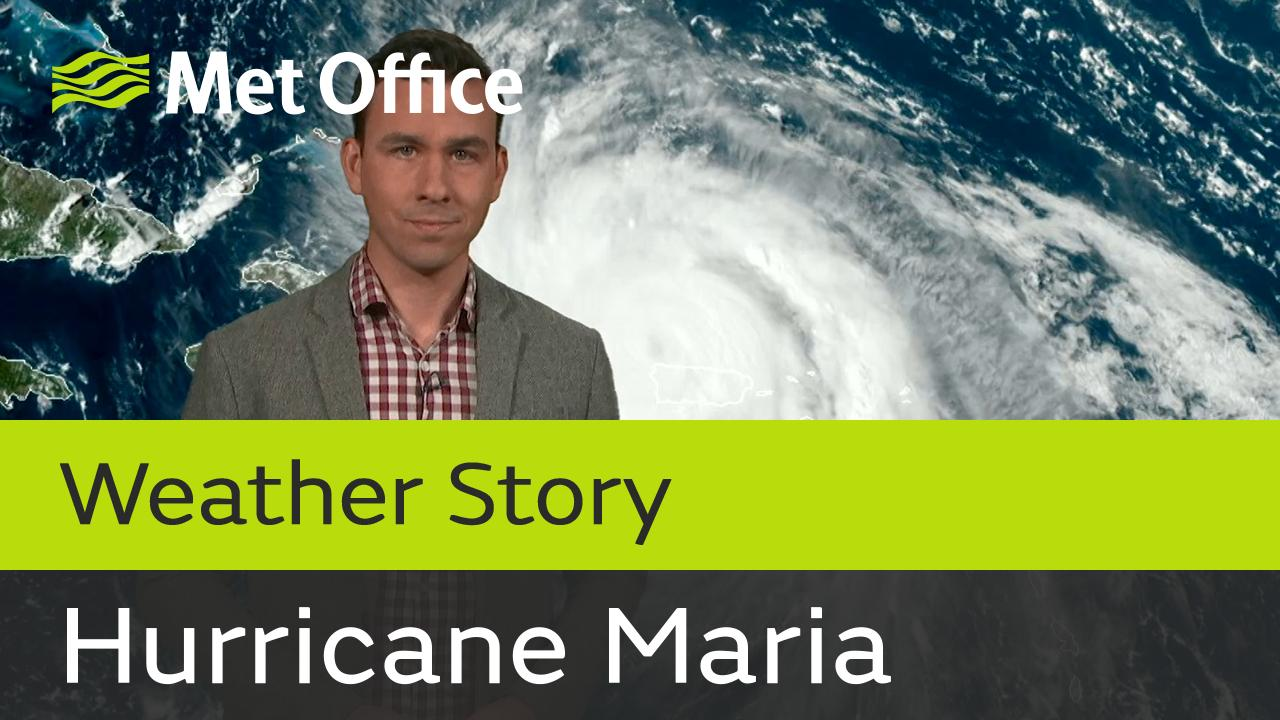 Having brought devastating winds and flooding to parts of the Lesser Antilles as well as to Puerto Rico during the last few days, Major Hurricane Maria continues on its destructive path. Met Office Meteorologist Aidan McGivern has further details.