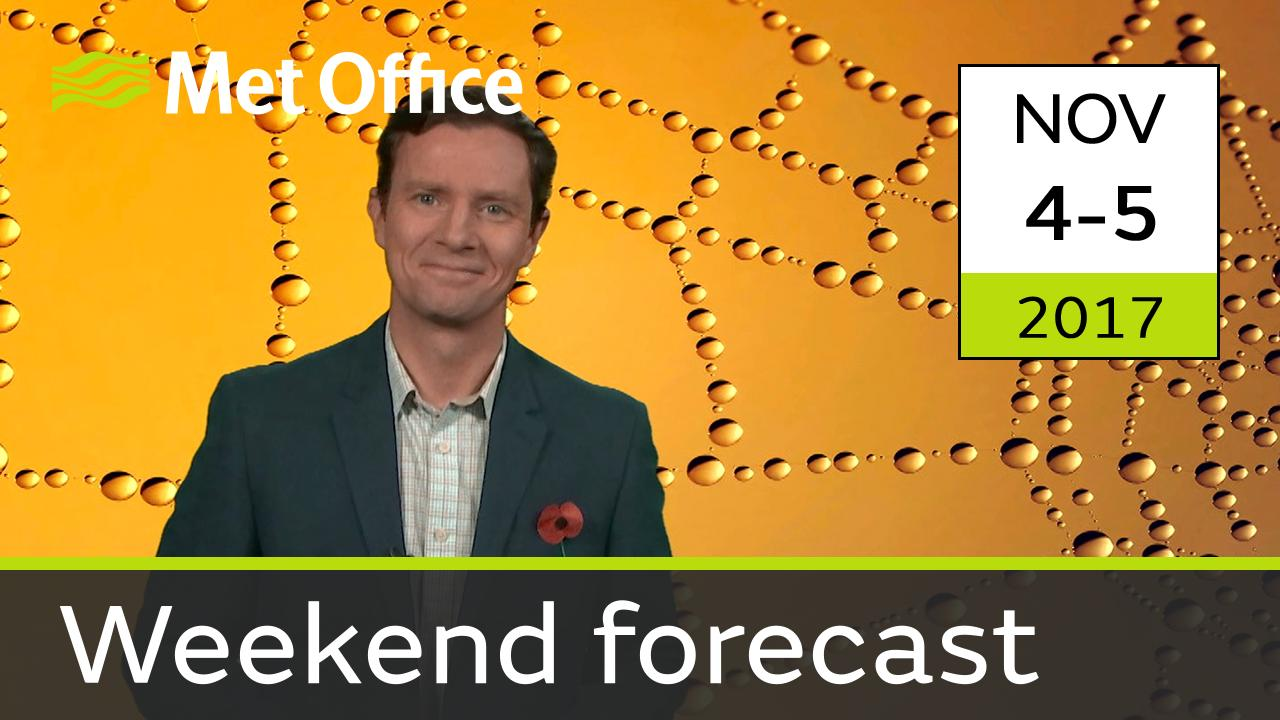 Alex Deakin takes a look at the forecast for this weekend.
