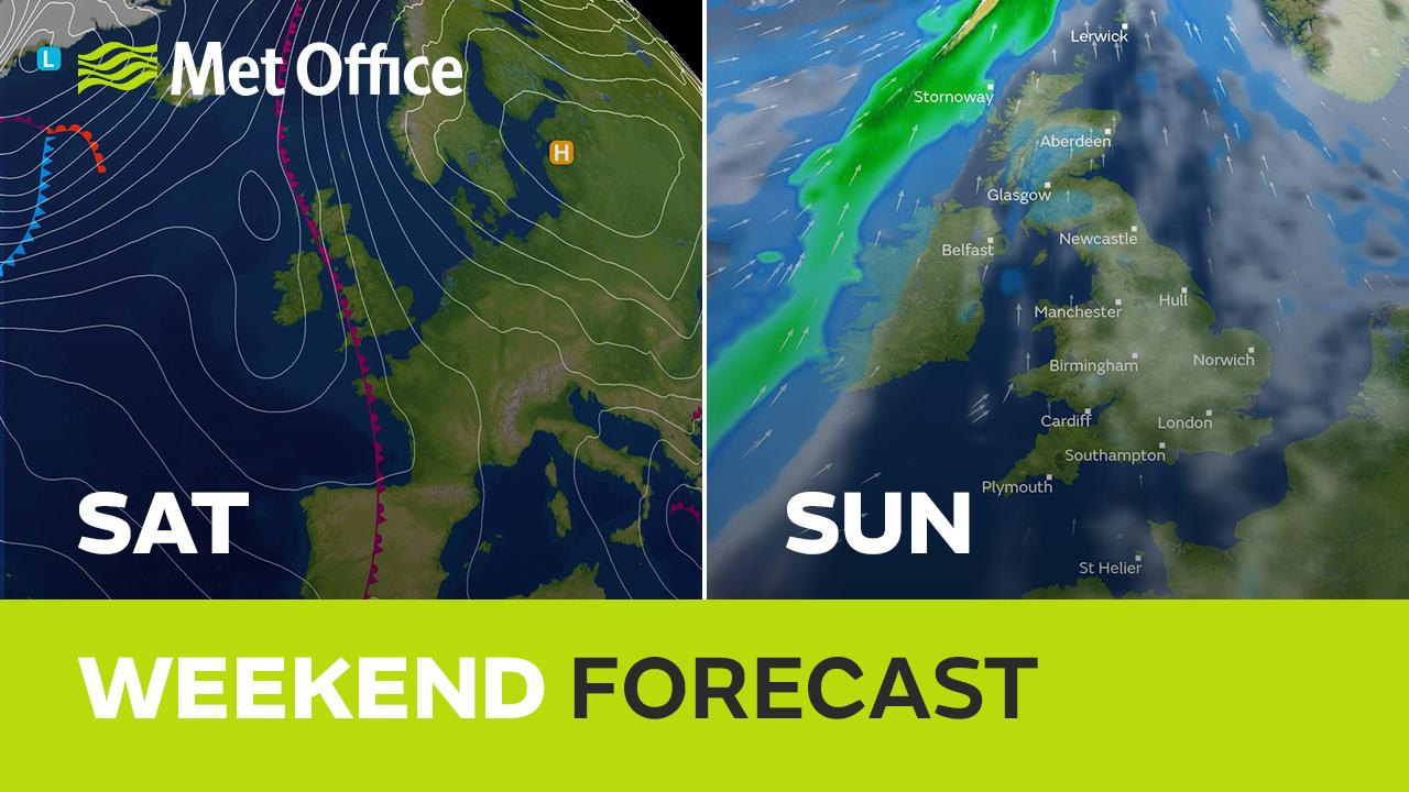 Much of the UK will have a dry weekend but rain will affect the west on Saturday. the breeze will increase which means it won't be as foggy and we'll see a more dramatic change to the weather by the end of the weekend. Alex Deakin explains more.