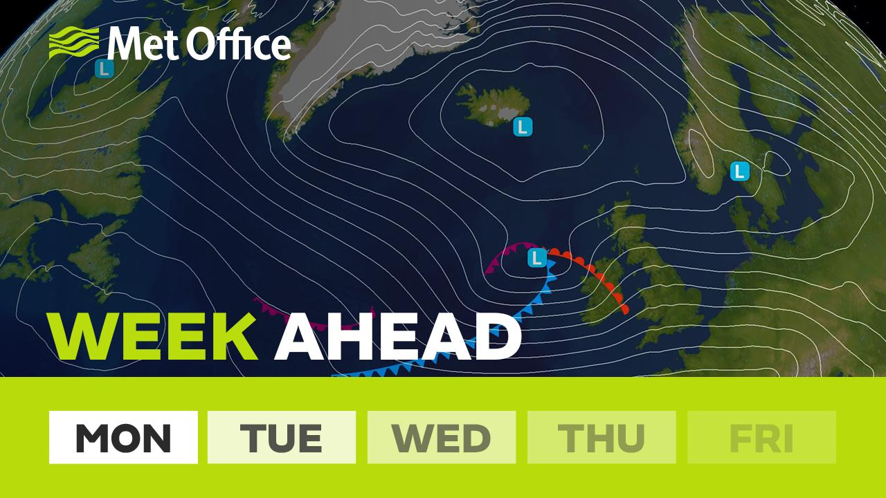 This week sees a dramatic change to blustery conditions with a potentially stormy spell midweek. It will feel cold and there'll be plenty of heavy showers along with snow in parts of the north. Alex Deakin has the details.