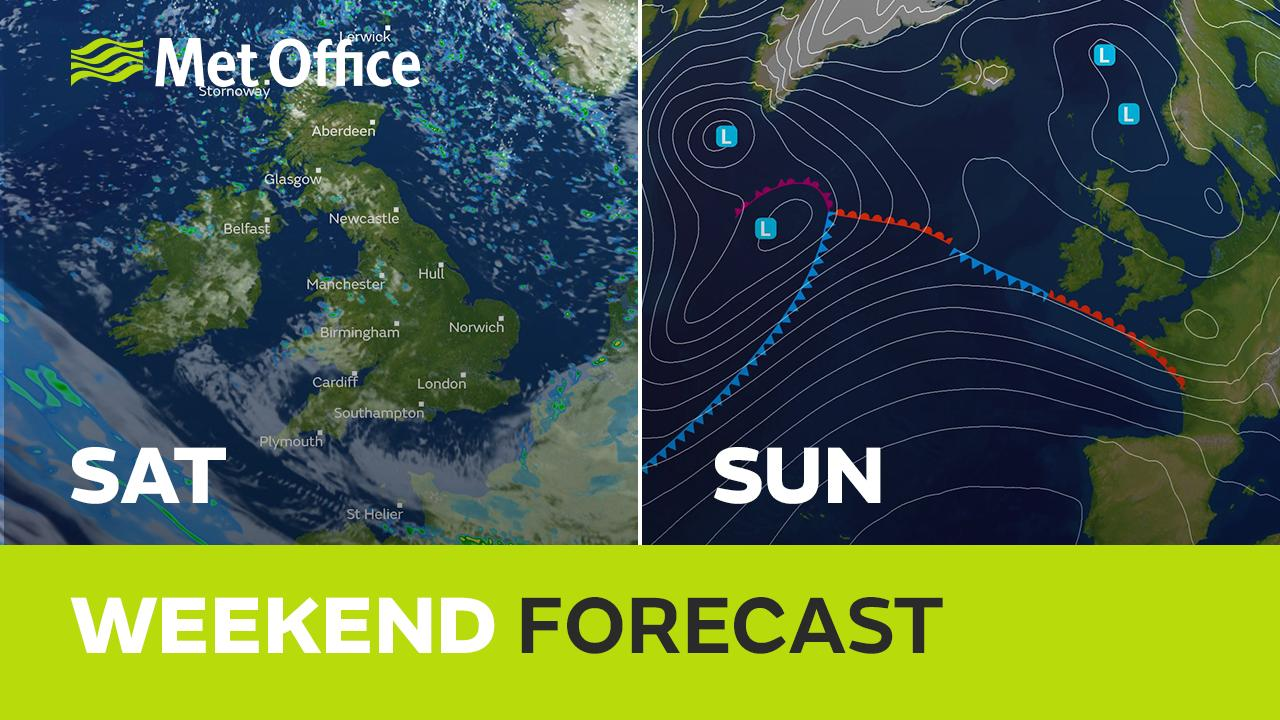 The weather should settle down a bit to start the weekend with a drier day on Saturday. Then Sunday promises more cloud and rain with the chance of some snow in places too. Alex Deakin has the details.