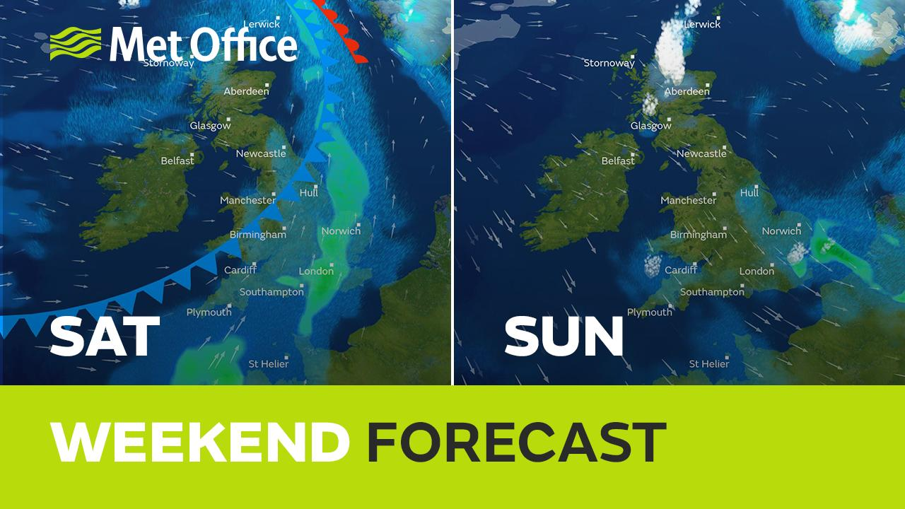 Wet and windy, then turning colder again with wintry showers. Clare Nasir has the details.