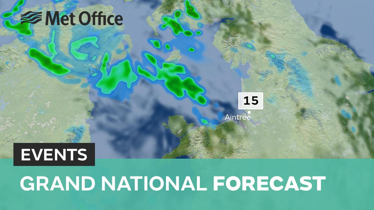 Met Office meteorologist Aidan McGivern has the latest forecast for this year's Grand National