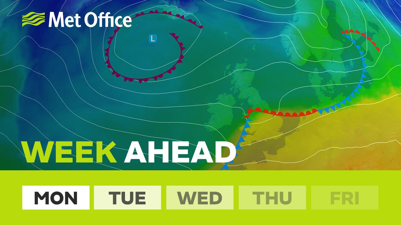 After a taste of summer last week this week sees westerly winds return to bring a fresher feel. There will be some sunshine but plenty of showers too. Alex Deakin has the details.