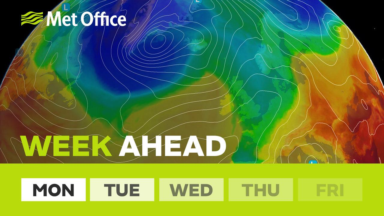 After a cool first half of the week with rain for many, it looks like drier and warmer weather could arrive by the end of the week. Alex Deakin has the details and an early look at the prospects for the bank holiday.