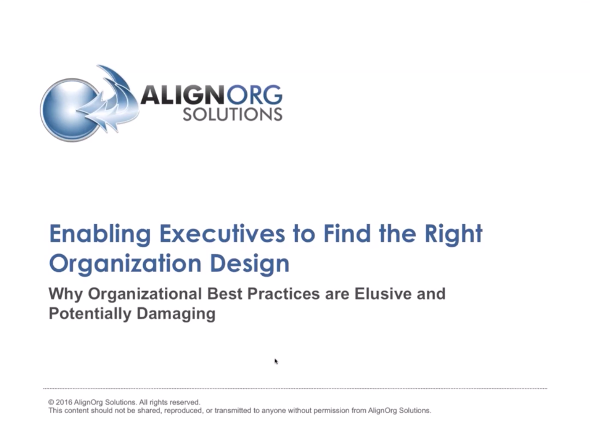 Enabling Executives To Find The Right Organization Design Webinar Human Capital Institute