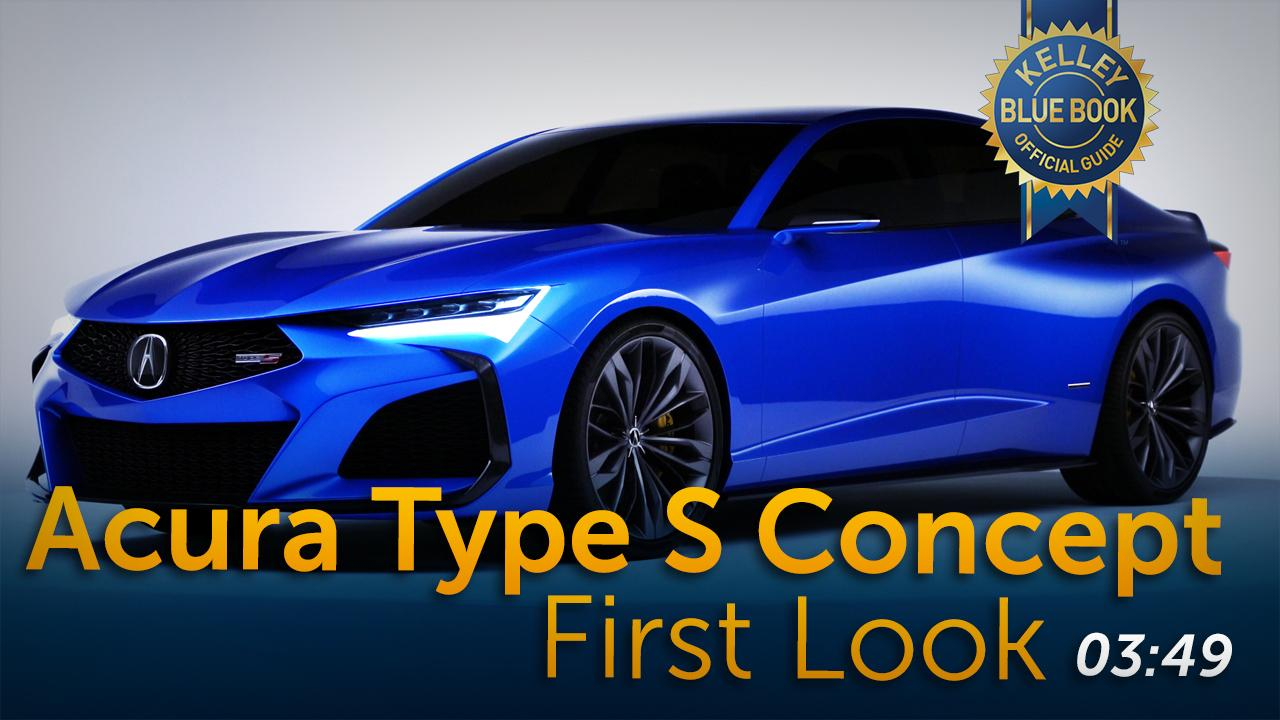 2020 Acura Type S Concept First Look Kelley Blue Book
