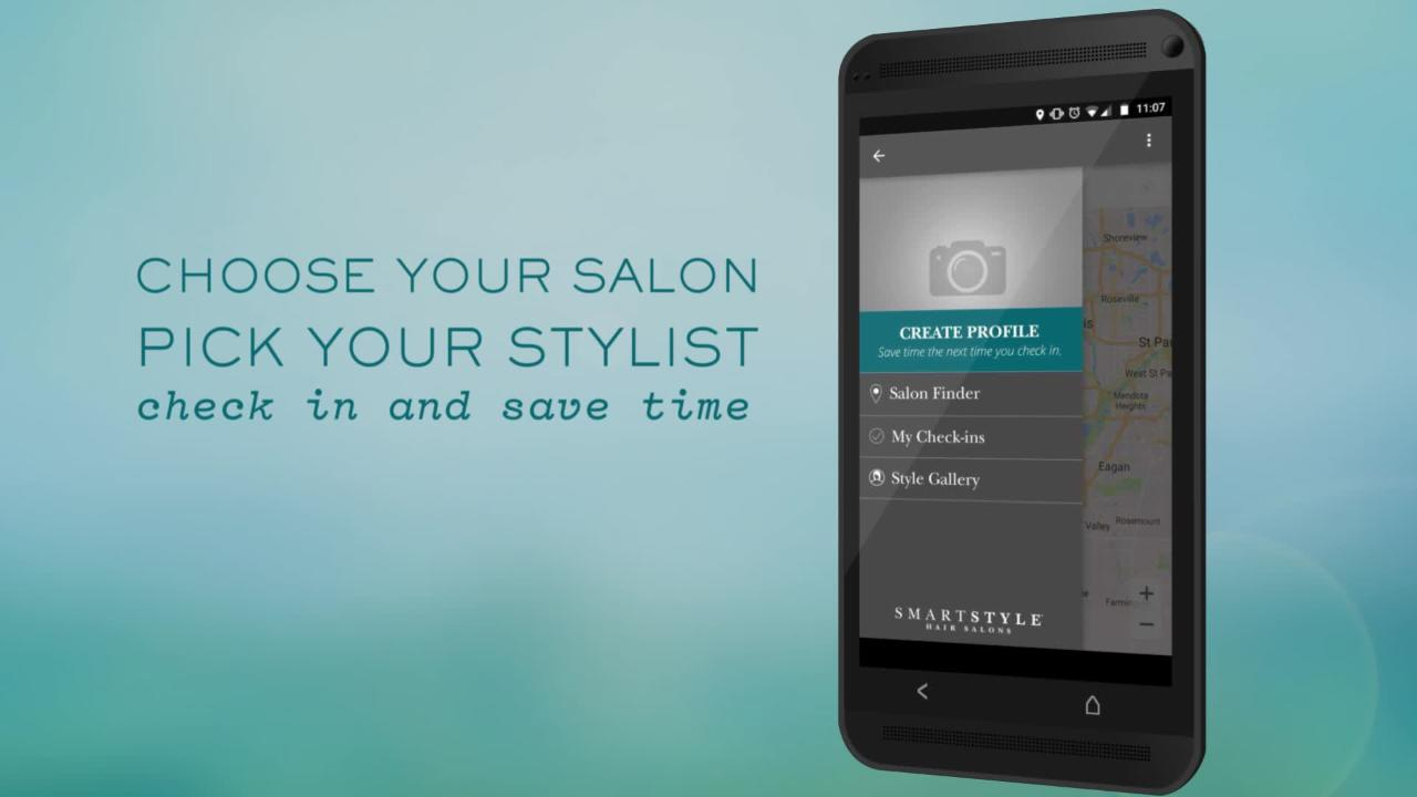 Smartstyle Mobile App Hair Salon Check In