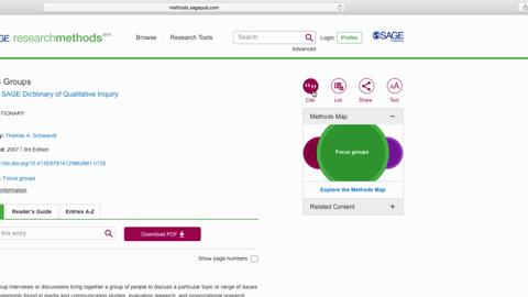 SAGE Research Methods: Find resources to answer your