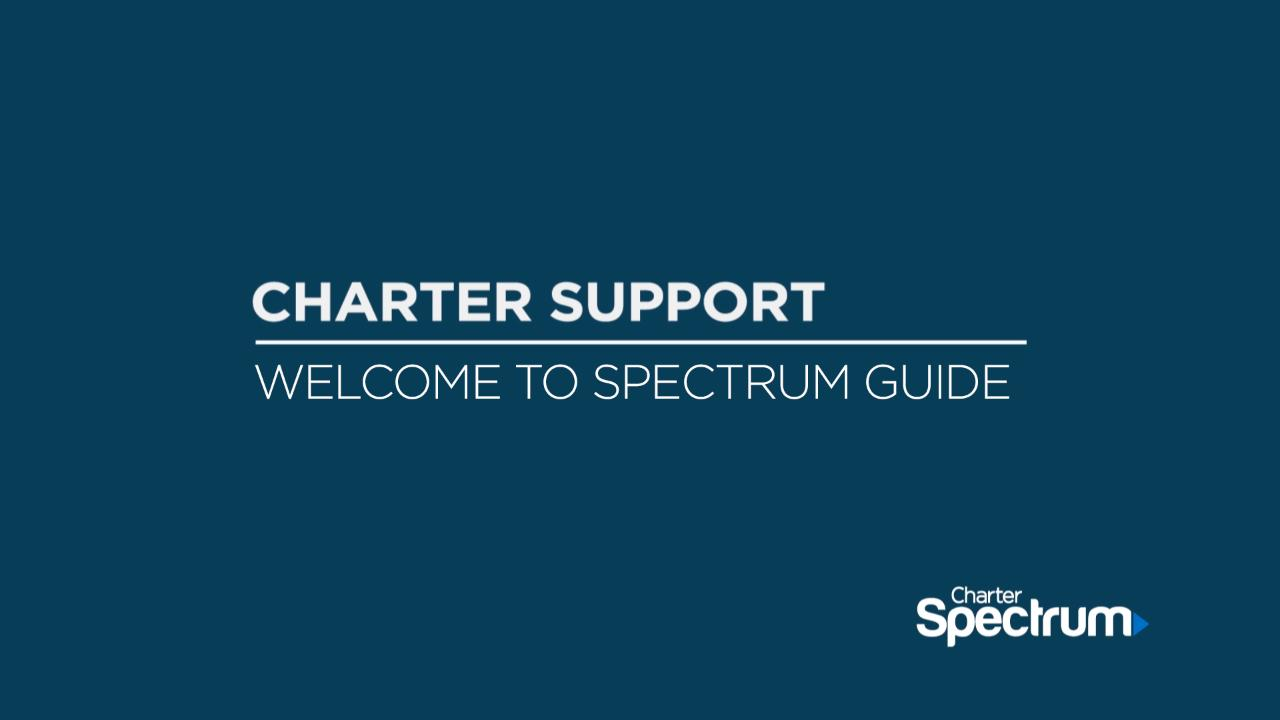 Link to support video about Welcome to Spectrum Guide Video