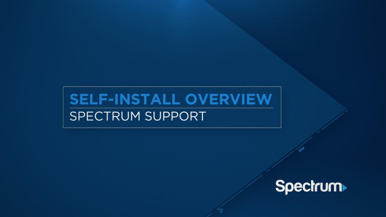 Self-Installation Help | Spectrum Support