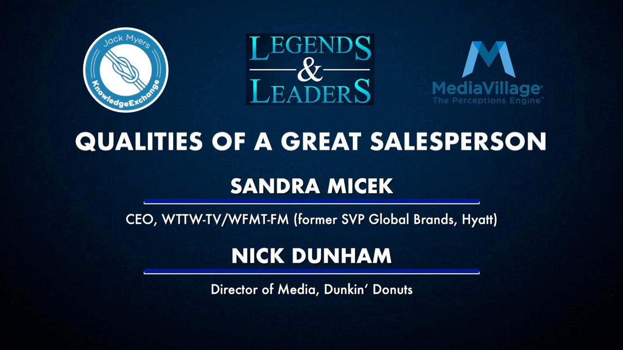 Thumbnail for video of article: Video: Qualities of A Great Salesperson with Sandra Micek and Nick Dunham