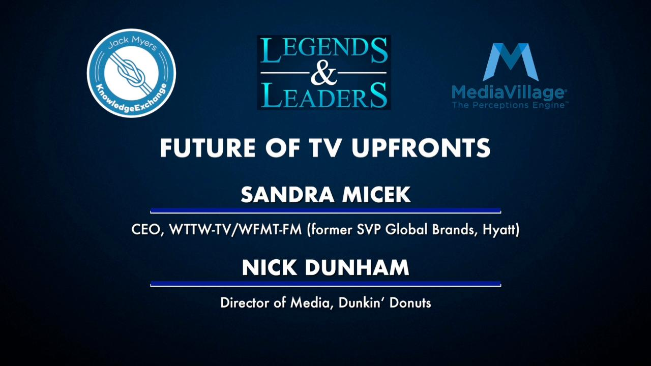 Thumbnail for video of article: Video: The Future of the Upfronts with Sandra Micek and Nick Dunham