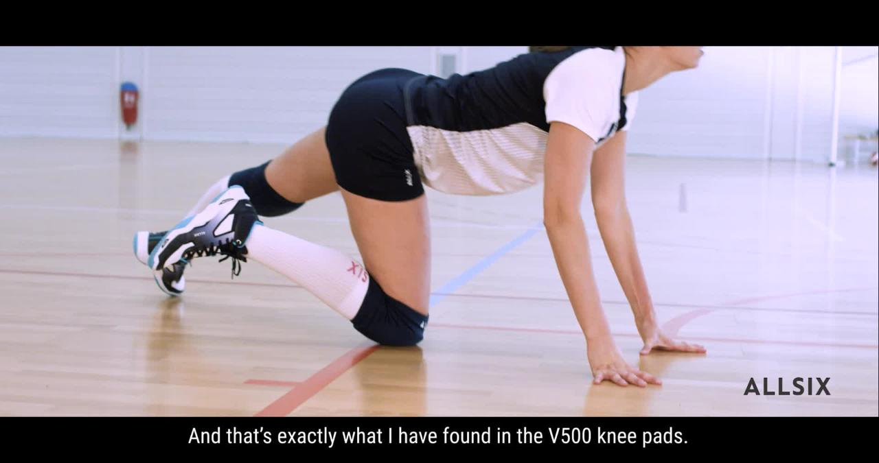 V500 Volleyball Knee Pads Decathlon Australia