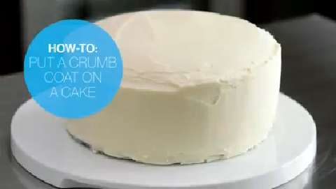How to put a crumb coat on a cake
