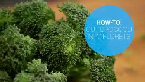 How to cut broccoli into florets