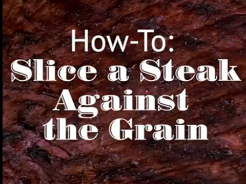Quick tips: How to slice a steak against the grain