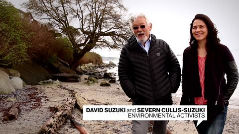 David Suzuki and Severn Cullis-Suzuki wish Canadian Living a happy birthday