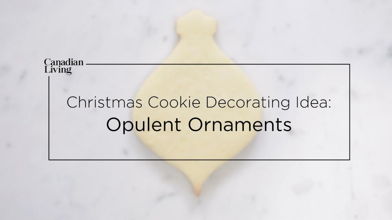 Christmas Cookie Decorating Idea: Opulent Ornaments
