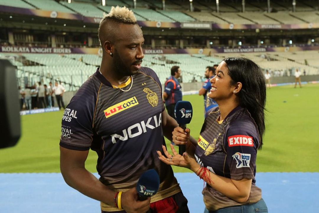 Mrs. Russell celebrates Mr. Andre Russell's birthday at Eden Gardens