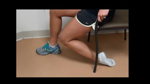Sitting Ankle Plantarflexion Stretch