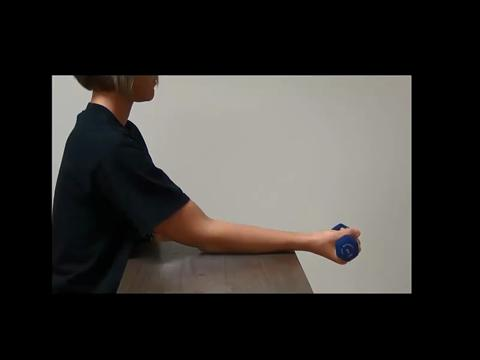 Resisted Wrist Flexion With Weight