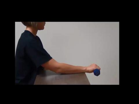 Resisted Wrist Extension With Weight