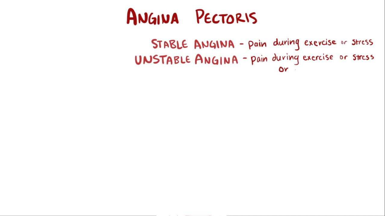 angina pectoris - cardiovascular disorders - msd manual professional