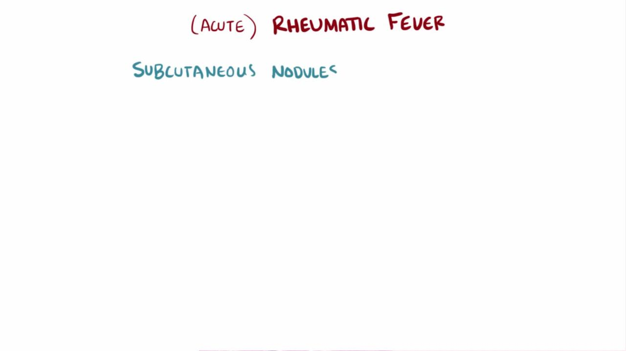 Overview of Rheumatic Fever