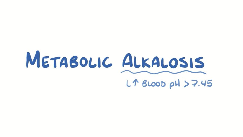 Overview of Metabolic Alkalosis