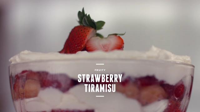 Ep 1: (Recipe Video) Fruity Strawberry Tiramisu | Cooking For Love