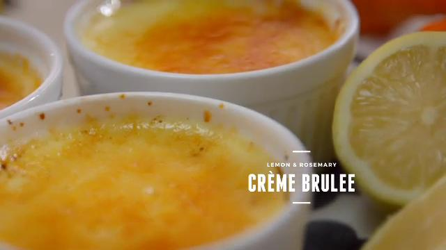 Ep 2: (Recipe Video) Lemon & Rosemary Creme Brulee | Cooking For Love