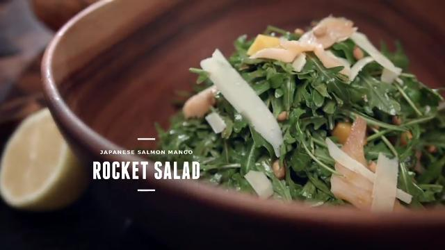 Ep 6: (Recipe Video) Japanese Salmon Mango Rocket Salad | Cooking For Love