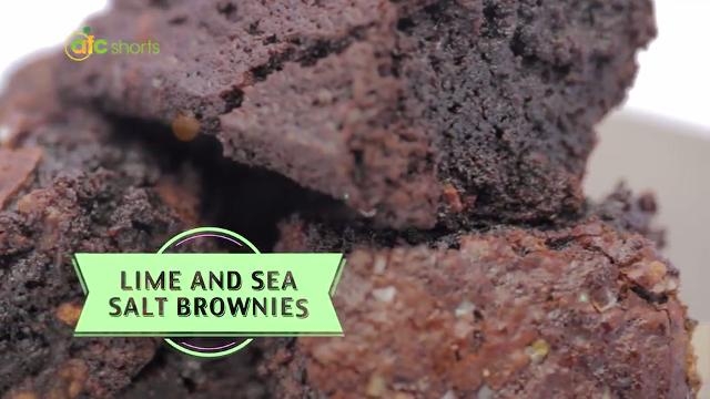 Lime and Sea Salt Brownies | Yummy Desserts