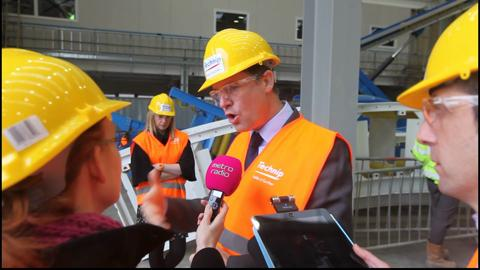 Nick Clegg visits DUCO Ltd in Walker