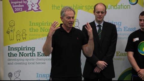 Tony Blair visits Walker Technology College