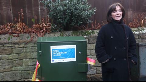 Duchess of Northumberland unveils superfast broadband in Alnmouth