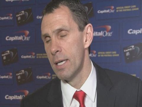 Gus Poyet and Sunderland players speak to the media after Wembley defeat