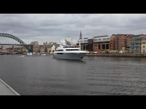 Superyacht Sovereign bids farewell to Tyneside
