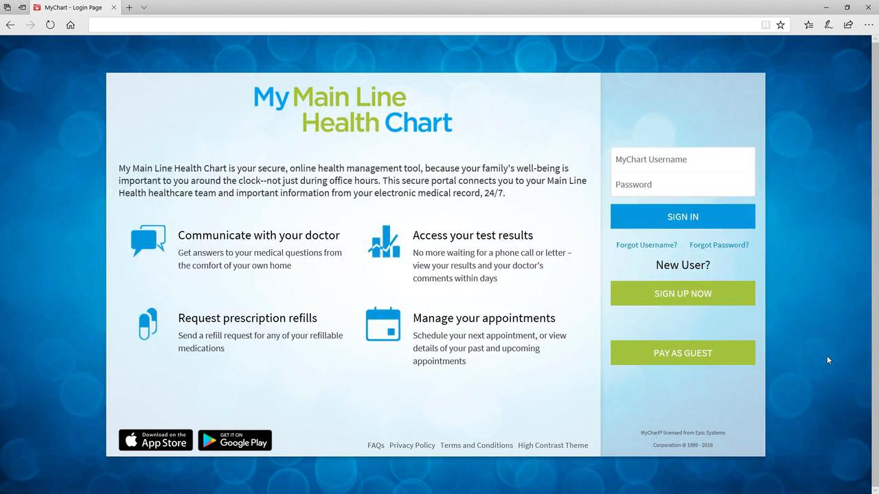 MyChart | Patient Services | Main Line Health | Philadelphia