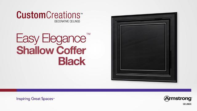 Easy Elegance - Shallow Coffer Black