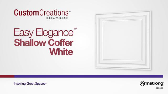 Easy Elegance - Shallow Coffer White